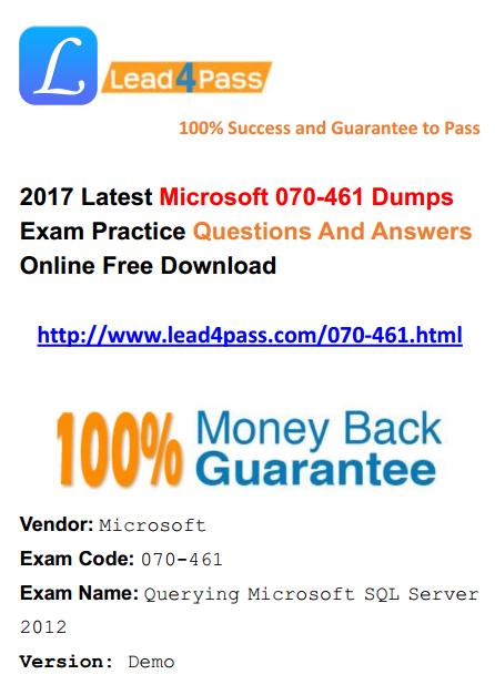 070-461 dumps