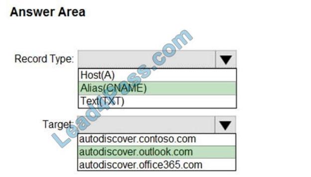 microsoft ms-203 exam questions q13-1
